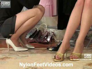Agatha Ninon Naughty Nylon Footsex