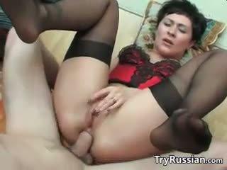 Βρόμικο ρωσικό μητέρα wants πρωκτικό