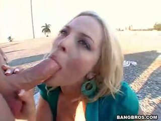 Alexis Texas Fills Her Throat With A Big Meat Penis Under The Sun