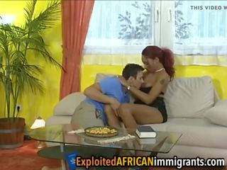 Porca casal having diversão com negra puta, porno 86