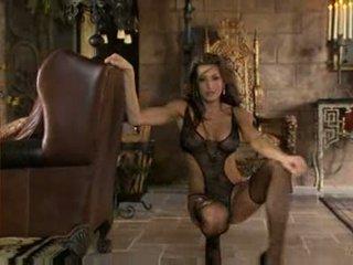 bruneta, bigtits, striptíz