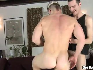 Naughty cock riding with gay stud