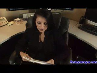 Busty Boss Gets Cream Pie In Her Office