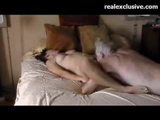 Patricia fun with old guy with a 9 inch thick cock
