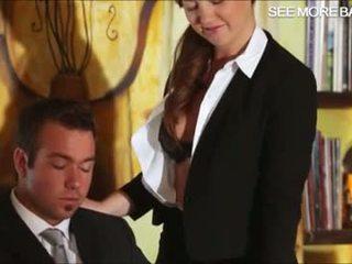 Lovely secretary Maddy fucking her bos...