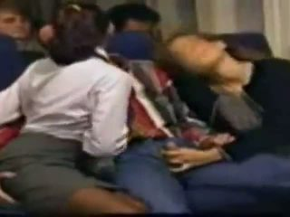 Stocking stewardess sex (in the airplane)