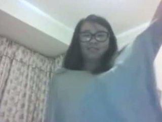 Asiática se desnuda por skype