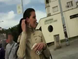 Pretty Czech girl payed for hardcore fucking in public