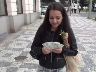 Czech girl Lili Devil pounded for money