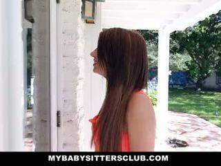 Mybabysittersclub - zierlich baby sitter gefickt auf neu years