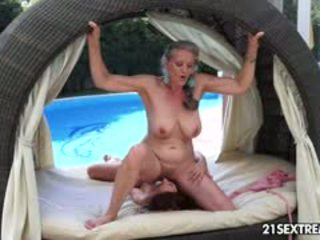 Granny Aliz And Her Young Girlfriend, Candy Enjoy The Last