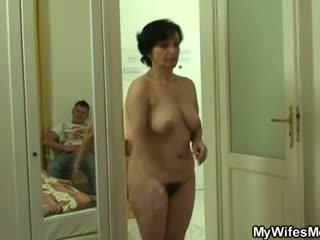Son-in-law drills тя стар космати грабване