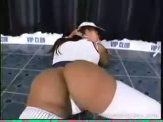 Sexy ebony stripper danni back again