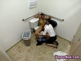 Slut Recorded Fucking In Public Toilet