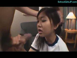 Aluna em treinamento vestido getting dela boca
