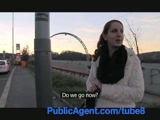 PublicAgent Ginger girl gets into stranger car and fucks for cash