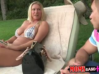 Busty stepmom and stepdaughter sharing