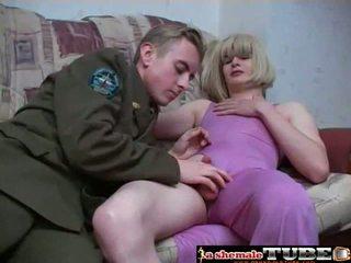 sexo oral, culo de mierda, crossdresser
