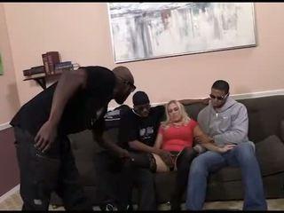 group sex, interracial, stockings