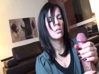 si rambut cokelat, oral seks, deepthroat