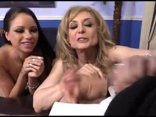 Raven Bay and Nina Hartley interracial cuckold fun