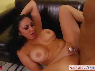Hot brunette Audrey Bitoni gets nailed
