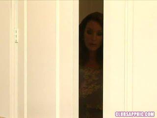 Rachel Steele Walks In On Elexis Monro...
