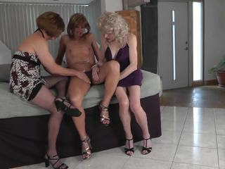 crossdresser, threesome, amator
