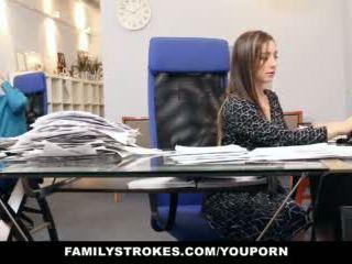 brunette, kjønn, kontor