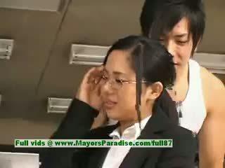 Sora aoi innocent nakal warga asia setiausaha enjoys getting