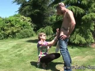 rated cowgirl quality, outdoors, free cumshot
