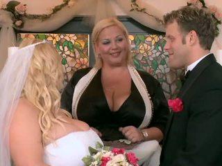 나의 큰 통통하게 살찐 결혼식 부분 네