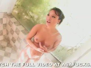 젖은 과 야생 아시아의 asa akira