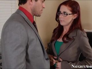 Scarlet head penny pax bump in kantor onto perverted america