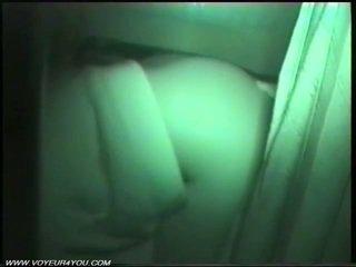 Amatör video- bil kön vid natt