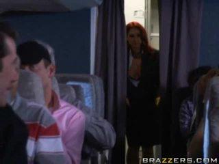 Passengers having quickie в an airplane shitter!