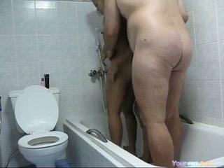Pattaya Shower Threesome Video