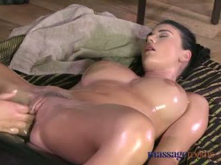 Massage Rooms Teen with incredible massive natural breasts cums hard