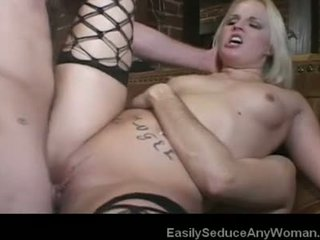 fuck, threesome, blonde