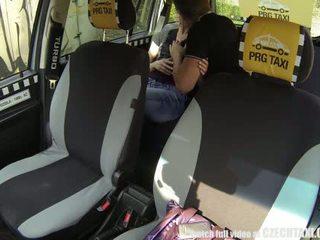 Tchèque taxi blonde ado gets tour de son vie