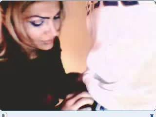 Turkiska par having kön på webkamera video-