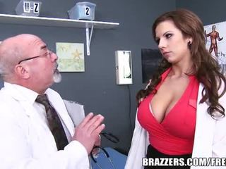 Slutty doctor cures a patient with her cunt