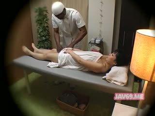 japansk, massage, dolda kameror
