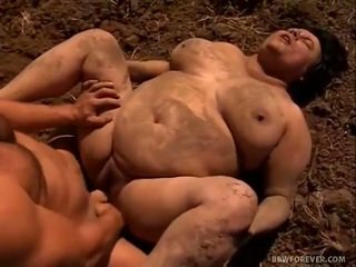 Farmer Stretches Mud Filled Chunky