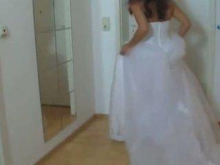 Tüdruk sisse tema pulmad kleit perses raske 1