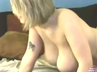 Busty blonde Siri masturbates and fucks with a guy