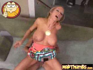 Busty blonde banged