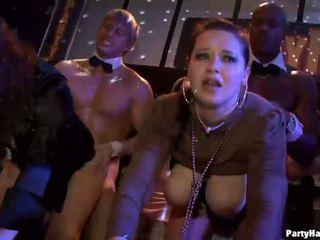 Grupa seks dzikie patty w noc klub