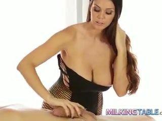 Alison tyler lul milking een groot piemel naar een cumshot