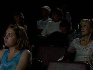 ב the קולנוע